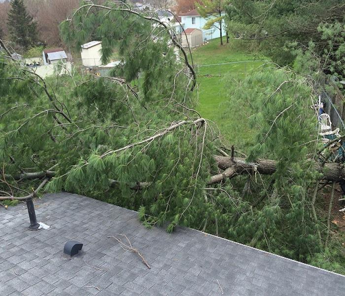 Roof Damage from a Storm in the Columbus Area Before