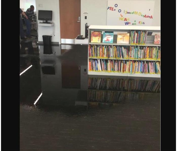 flooded library