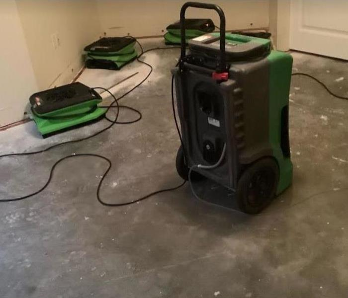equipment set after water loss